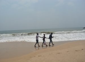 Playing at Elegushi beach