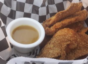 Chicken tenders at the backyard