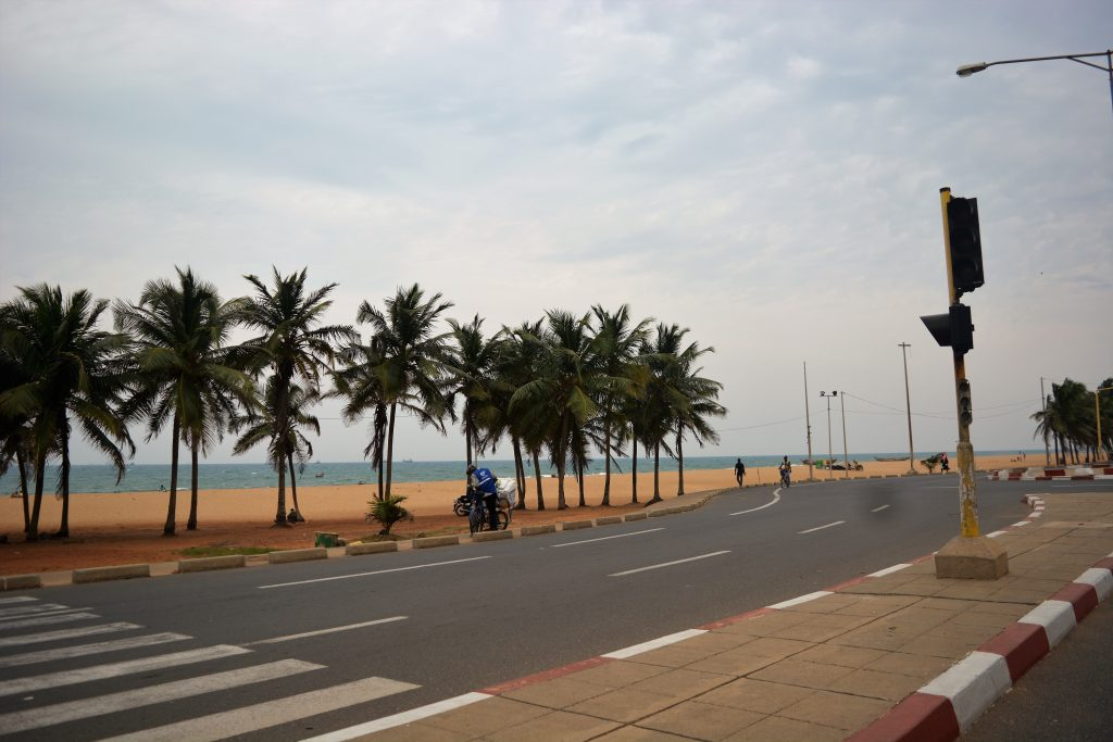 A Road In Togo while traveling from Lagos To Ghana By Road