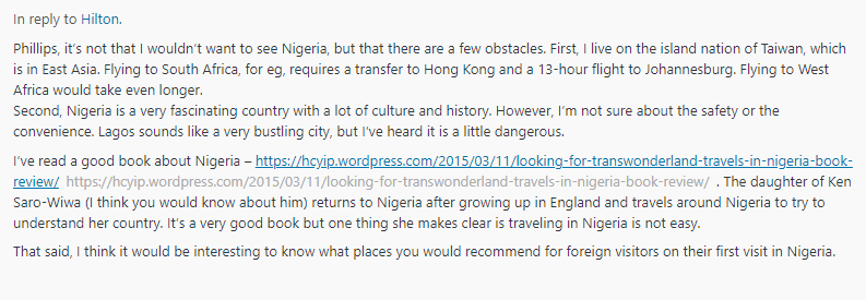 Comments on NomadicNegro.com